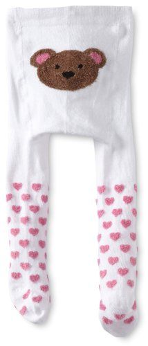 Robeez Baby-Girls Newborn Little Bear Tights, White w/Pattern, 12-24 Months « Clothing Impulse