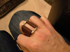 Leather ring. $15.00, via Etsy.