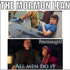 The Mormon lean