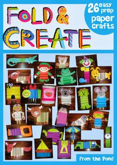Craft Projects - 26 Fold and Create Paper Crafts This file contains templates for 26 paper crafts - one for each letter of the alphabet. Diy Arts And Crafts, Fun Crafts, Crafts For Kids, Paper Crafts, Preschool Painting, Preschool Crafts, Preschool Printables, Alphabet Crafts, Alphabet For Kids
