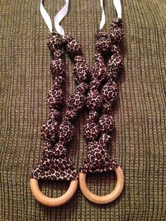 Cheetah teething/nursing necklaces $15 each
