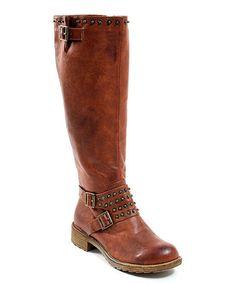7e3b20968b95 Rust Stud Moderna Tall Boot by CheckList