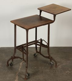 Industrial vintage typewriter stand. Repinned by www.silver-and-grey.com
