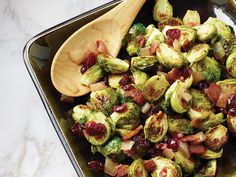 Roasted Brussels sprouts with cranberries and bacon - Walmart Live Better