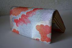 Wedding purse, Saga Nishiki silk brocade clutch, 1970s vintage Japanese handbag by StyledinJapan on Etsy