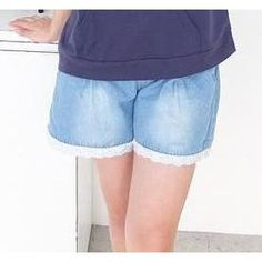 Buy '59 Seconds – Lace Trim Drawstring Denim Shorts' with Free International Shipping at YesStyle.com. Browse and shop for thousands of Asian fashion items from Hong Kong and more!