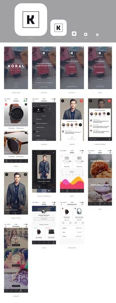 Koral eCommerce iOS Design