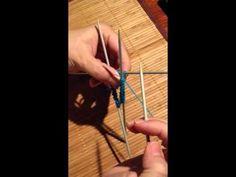 Côtes 2/2 , 4 aiguilles, chaussettes en tricot par Artisanat du Nord - YouTube
