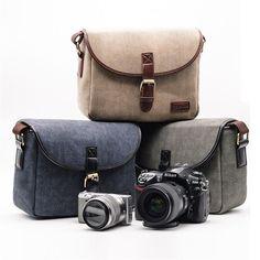 UK Canvas Travel Shoulder Messenger Bag for Canon Nikon Sony DSLR Digital Camera  | eBay