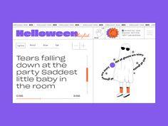 Halloween by Ekaterine Rogava Graphic Design Layouts, Ui Ux Design, Graphic Design Posters, Typography Design, Layout Design, Design Art, Branding Design, Site Web, Presentation Design