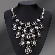 Fashion NewHot Fashion Retro Bling Choker Big Pendants Alloy Chain Necklace