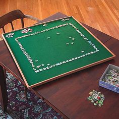 34 inch square spinning puzzle board