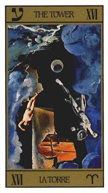 The Tower in the Salvador Dali Tarot deck Salvador Dali Kunst, Intuition, Dali Paintings, Spanish Artists, Major Arcana, Oracle Cards, Tarot Decks, Tarot Cards, Illustration Art