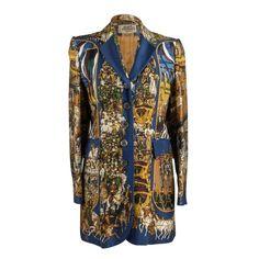 6659439f03519a Hermes Vintage Jacket Grand Cortege A Moscou Silk Scarf Print 38   6