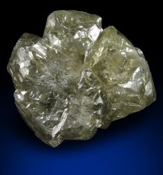 Diamond (28.82 carat greenish-gray crystal cluster) from Sakha (Yakutia) Republic, Siberia, Russia.