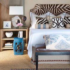 Ceylon et Cie - bedrooms - zebra print headboard,
