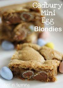 Chef in Training: Cadbury Mini Egg Blondies
