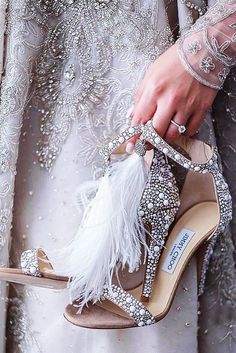 30 Officially The Most Gorgeous Bridal Shoes ❤ gorgeous bridal shoes vintage sparkle heels jimmy choo ❤ See more: http://www.weddingforward.com/gorgeous-bridal-shoes/ #weddingforward #wedding #bride