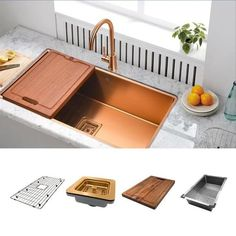 copper kitchen accessories COPPER - Undermount Sink Overall Dimensions: x 18 Inside Dimensions: x Depth: 9 The Copper is part of our new product line for kitche Copper Kitchen Accents, Copper Kitchen Utensils, Copper Kitchen Accessories, Steel Kitchen Sink, Copper Kitchen Decor, Black Kitchen Faucets, Kitchen Sinks, Kitchen Remodel, Stainless Steel Kitchen