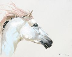 Horse portrait oil painting by Deanna Lankin