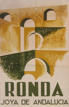 Vintage Travel Poster - Ronda - Joya de Andalucia/Jewel of Andalusia - 1930, Andalucia -  Spain.