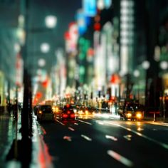 Tilt Shift Cityscape #iPad #Wallpaper HD