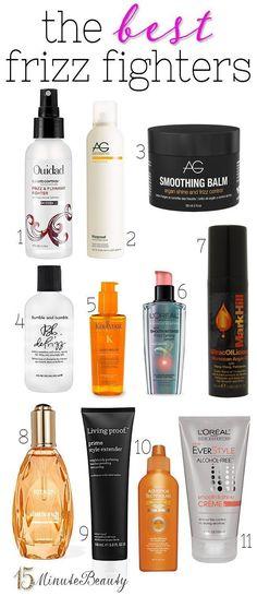 11 Great Anti-Frizz Hair Products via 15MinuteBeauty.com #antifrizzshampoo #frizz