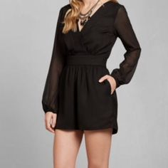 Nwt Abercrombie And Fitch Xs Black Romper