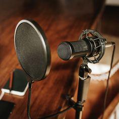 Professional condenser microphone with a pop filter in a studio   premium image by rawpixel.com / Teddy Rawpixel Microphone Images, Microphone Studio, Music Studio Room, Recording Studio Design, Recording Equipment, Studio Gear, Best Stocks, Audio, Photo And Video