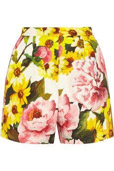 Dolce & Gabbana Floral-print jacquard shorts | NET-A-PORTER