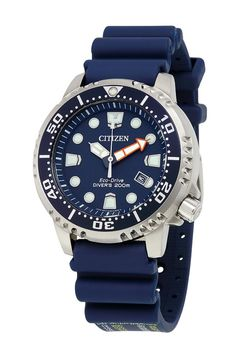 Citizen Eco Drive Mens Promaster Diver Blue Dial Date Watch Used Watches, Big Watches, Stylish Watches, Sport Watches, Luxury Watches, Cool Watches, Watches For Men, Citizen Watches, Wrist Watches