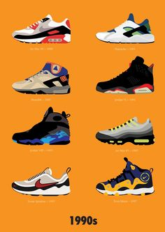 """""""1990s Nike"""" Stephen Cheetham......shoes of my childhood"""