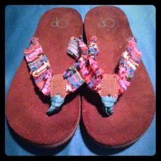 OP Flip Flops OP flip glops with serape style material. OP Shoes Sandals