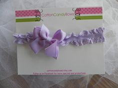 BLACK FRIDAY SALE Lavendar Ruffled Lace by CottonCandyBows on Etsy, $5.00