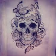 Bildresultat för beautiful skull tattoos for women