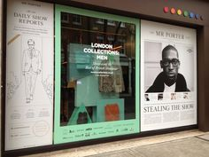 British Fashion Council: London Collections Men Window Display