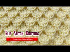 Slip Stitch Knitting #3: Mock Honeycomb