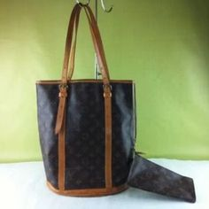 I just discovered this while shopping on Poshmark: % Authentic Louis Vuitton Bucket bag with pouch.. Check it out!  Size: Large