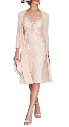 online shopping for JYDress Women's Lace Mother The Groom Dresses Tea Length Jacket from top store. See new offer for JYDress Women's Lace Mother The Groom Dresses Tea Length Jacket Brides Mom Dress, Mother Of The Bride Dresses Long, Mother Of Bride Outfits, Mothers Dresses, Grooms Mother Dresses, Wedding Outfits For Ladies, Mothers Wedding Dresses, Short Mothers Dress, Mother Of The Bride Looks