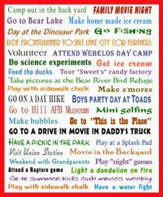 Northern Utah Summer Bucket List - 2014