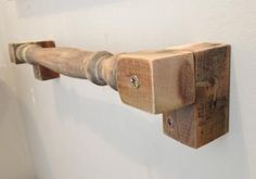 Spindle Towel Rail by Jamie Billing. Reuse Material: wooden Reclaimed Furniture and Garden waste