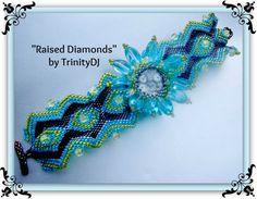 BP-BR-070  Raised Diamonds   Brick Stitch Beadwork от TrinityDJ