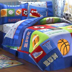 33 Best Sports Bedding For Kids Images Child Room Kid Bedrooms