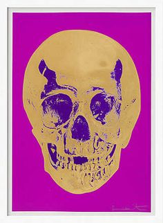 Damien Hirst, Till Death Do Us Part - Long Life - Purple African Gold Purple Imperial Purple Skull, 2012 /  © www.lumas.de/ #Lumas