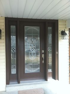 The existence of a front door in your home is very important to consider. Well, some people think that a front door is only a front door. Here, you need front doors, glass doors, glass front doors Brown Front Doors, Entry Doors, Front Door Design, Stained Doors, Glass Front Door, Exterior Doors With Glass, Glass Storm Doors, Exterior Doors, Entry Doors With Glass
