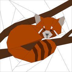 Red Panda Pattern - Forest QAL by badskirt, via Flickr