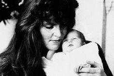 Sarah Ferguson, Duchess of York, holding her 2 week old daughter Princess Beatrice