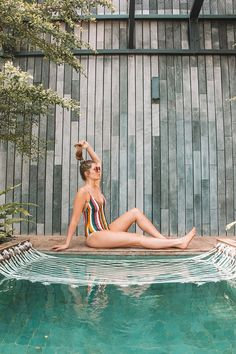 """""""Tucked away in a corner in Double Six Seminyak, Lloyd's Inn Bali isa hidden oasis of architecture and nature."""" The hotel's very stylish, modern and clean. The Beach, Samar, Outdoor Furniture, Outdoor Decor, Wells, Oasis, Monkey, Surf, Architecture"""