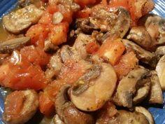 Basil Tomato Mushrooms