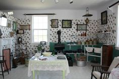 Newfoundland outport kitchen Newfoundland Canada, Newfoundland And Labrador, Vintage Homes, Fathers, Places To Go, Gallery Wall, Ocean, Paintings, Culture